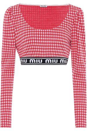 Miu Miu Crop top en mezcla de lana