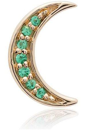 Andrea Fohrman Pendiente Crescent Moon con esmeraldas