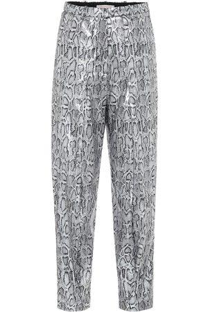 Christopher Kane Mujer Pantalones de talle alto - Pantalones de tiro alto efecto serpiente