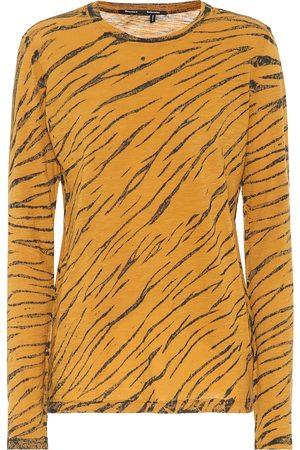 Proenza Schouler Camiseta de algodón con print animal
