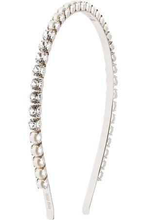 Miu Miu Diadema con apliques de cristal