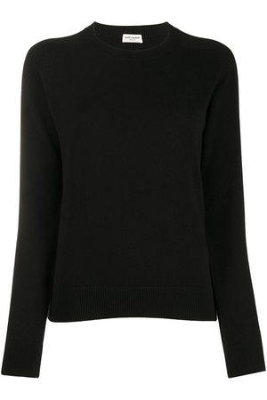 Saint Laurent Mujer Jerséis y suéteres - Jersey de canalé con cuello redondo