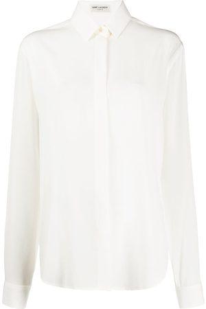 Saint Laurent Camisa de manga larga con botones