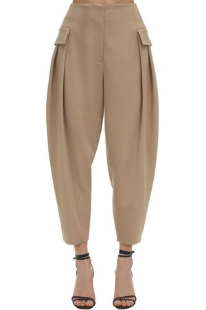 Stella McCartney | Mujer Pantalones Cargo De Lana Stretch 36