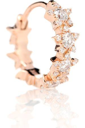 Maria Tash Arete único 8mm Diamond Constellation Eternity Ring de oro rosa de 18 ct y diamantes