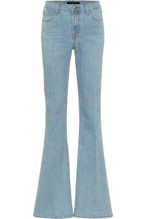 J Brand Jeans flared Valentina de tiro alto