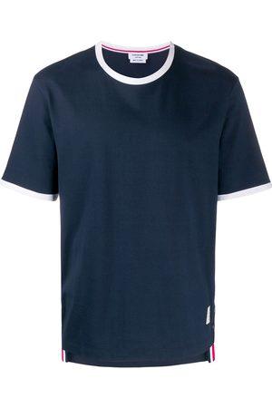 Thom Browne Camiseta con ribete en contraste