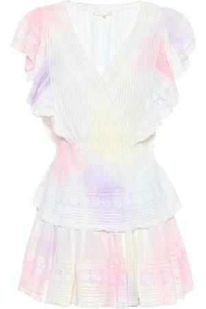 LOVESHACKFANCY Vestido corto Gwen de algodón