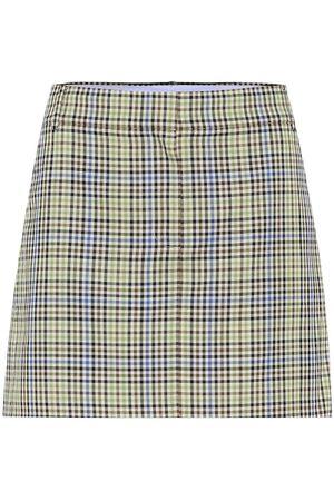 tibi Minifalda de cuadros