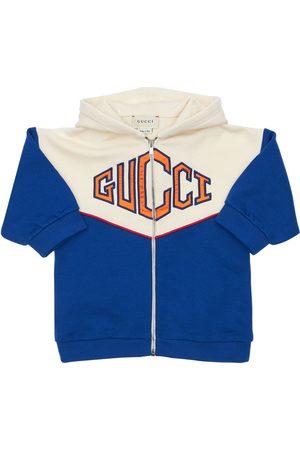 Gucci Sudadera De Algodón Con Logo Bordado