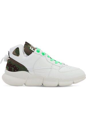 F_WD | Mujer Sneakers De Piel Sintética Con Cordones 20mm /verde 35