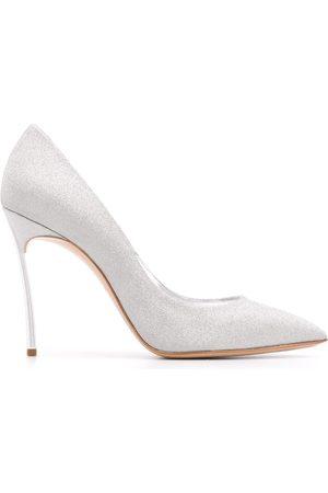 Casadei Zapatos de tacón Blade con purpurina