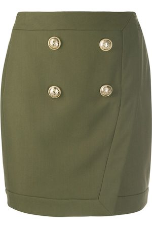 Balmain Minifalda de estilo militar