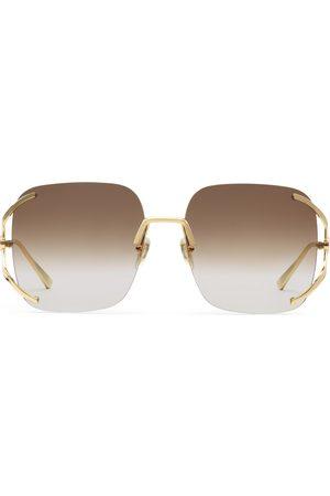 Gucci Gafas de sol cuadradas de metal