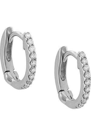 Dana Rebecca Designs Pendiente huggie en oro blanco de 14kt con diamantes