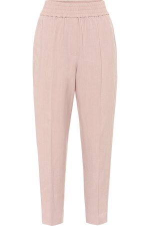 Brunello Cucinelli Pantalones de chándal estrechos