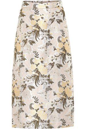 BROCK COLLECTION Falda midi de brocado floral