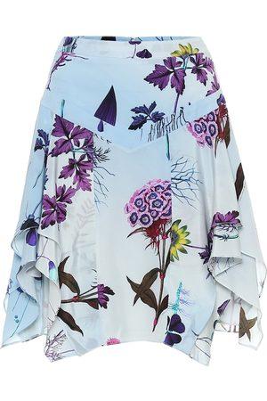 Stella McCartney Minifalda de seda floral