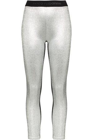 Paco rabanne Mujer Leggings - Leggins con logo en la cinturilla