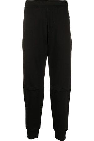 Alexander McQueen Pantalones de chándal con parche del logo bordado