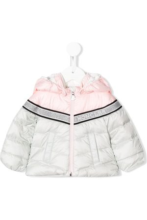 Moncler Two-tone logo band puffer jacket