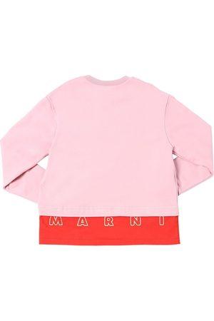 Marni | Niña Sudadera De Algodón Con Logo Bordado /rojo 10a