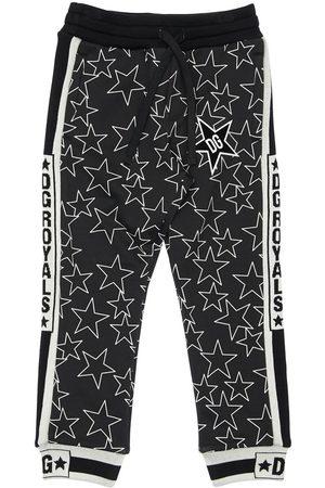 Dolce & Gabbana | Niño Pantalones Deportivos De Algodón Con Estampado /blanco 8a