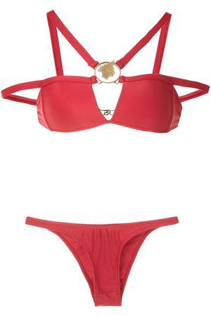 AMIR SLAMA Bikini con apliques metálicos