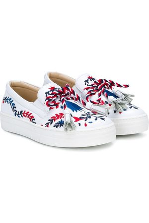 ERMANNO SCERVINO JUNIOR Zapatillas bordadas con borlas