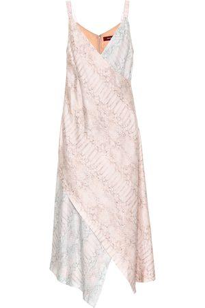 Sies marjan Vestido midi de seda con estampado