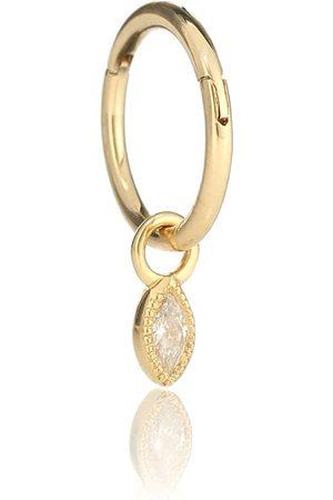 Maria Tash Argolla única de oro amarillo de 18 ct con diamantes