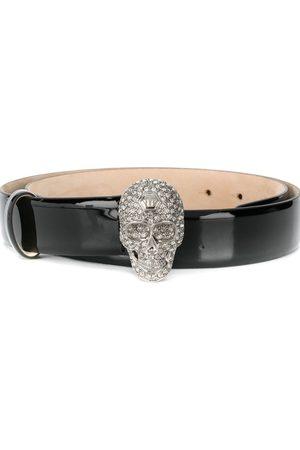 Philipp Plein Cinturón con cristales y aplique de calavera
