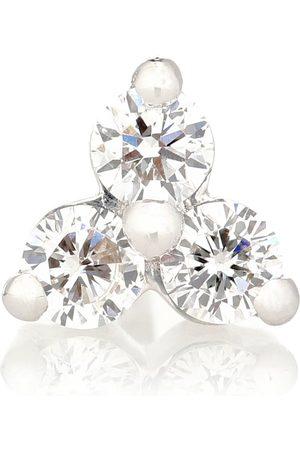 Maria Tash Arete único Trinity Large de oro blanco de 18 ct con diamantes