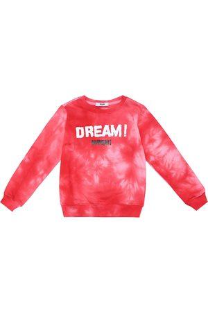 Msgm Sudadera de algodón efecto tie-dye