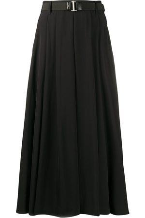 Prada Falda larga con pliegues