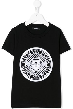 Balmain Short sleeve logo stamp T-shirt