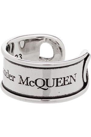 Alexander McQueen Hombre Anillos - Anillo con diseño grabado