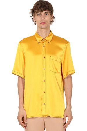 Sies marjan | Hombre Camisa De Satén De Techno Con Manga Corta S