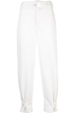 PROENZA SCHOULER WHITE LABEL Pantalones capri con cinturón