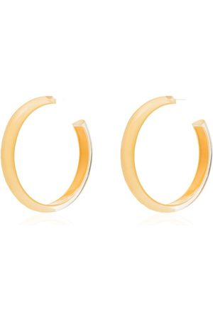 Alison Lou Yellow Loucite medium jelly hoop earrings