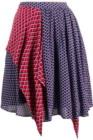 Kenzo Falda con estampado geométrico a paneles