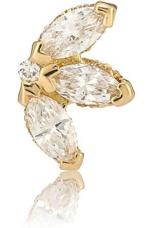 Maria Tash Arete único Lotus de oro amarillo de 18 ct con diamantes
