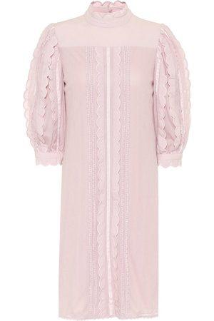 See by Chloé Vestido de encaje de algodón
