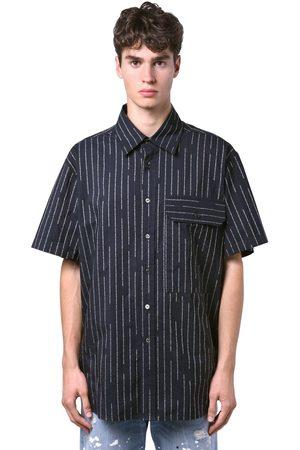 UNRAVEL   Hombre Camisa De Algodón Con Manga Corta Y Rayas 46