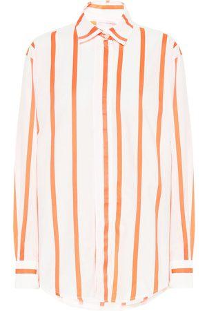 Victoria Beckham Camisa mezcla de algodón de rayas