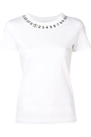 Maison Margiela Mujer Tops - Camiseta con motivo de números en el cuello