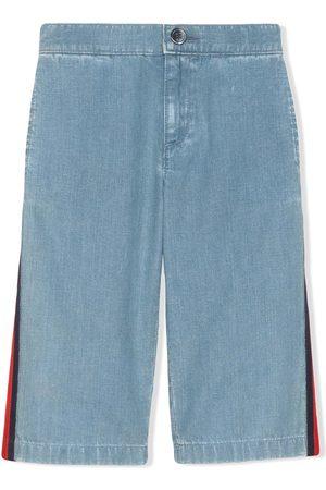 Gucci Vaqueros - Vaqueros anchos con detalle de tribanda