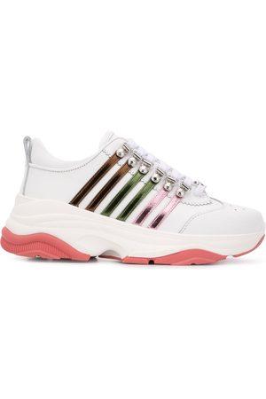 Dsquared2 Zapatillas bajas con suela gruesa y múltiples rayas