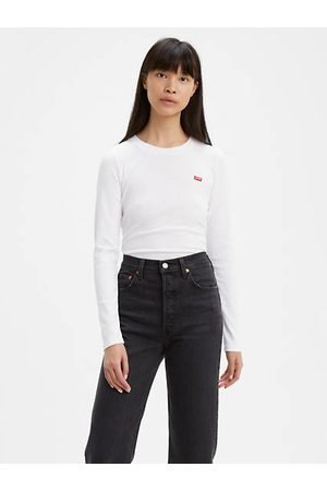 Levi's Mujer Camisetas y Tops - Long Sleeve Baby Tee / White