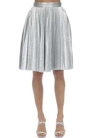 pushBUTTON | Mujer Falda Metalizada Plisada S